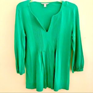 Green Lilly Pulitzer blouse.